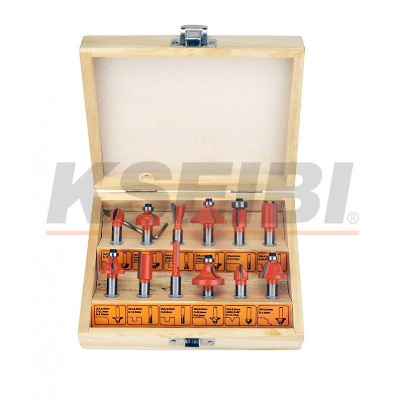 Hot Sales Kseibi 12pcs/set D Router Bits Set, High Quality 12pcs