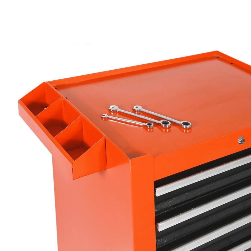 Foam Worktop Roller Cabinet 5 Drawer