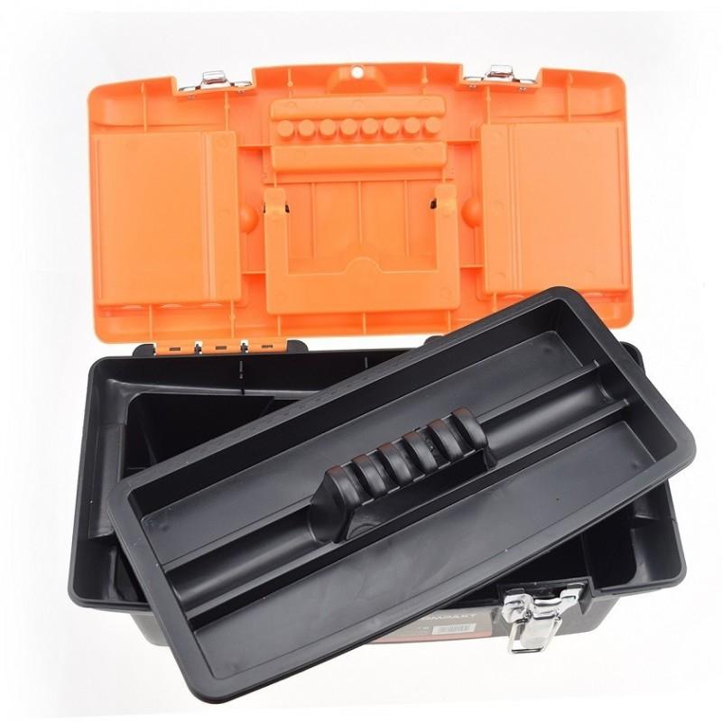 """Plastic Tool Box Steel Lock/19"""""""