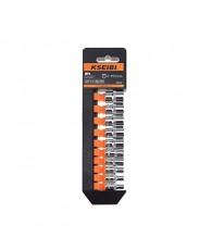 "Socket Set 4-14 mm Metric Cr-V 10-Sockets with Storage Rack (1/4"")"