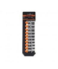 "Socket Set 10-19 mm Metric Cr-V 10-Sockets with Storage Rack (1/2"")"